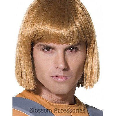 He Man Wig (W298 Adult Official He-Man He Man Blonde Short Wig Prince Adam 80s Superhero)