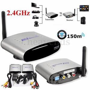 2.4Ghz Wireless Transmitter Empfänger TV STB Audio Video AV Sender PAT-330 150m