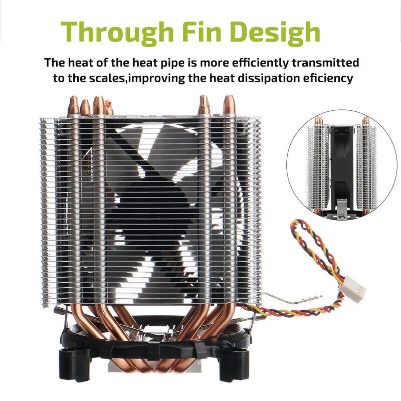 3Pin CPU Cooler Air Heatsink PC Cooling Fan For Intel LGA 775/1150/1151-1366 AMD