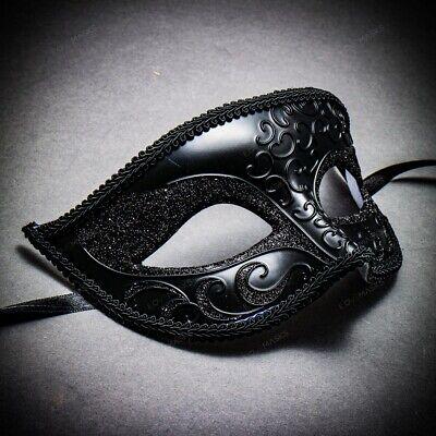 Venetian Classic Masquerade Halloween Costume Eye Mask with Glitter For Women