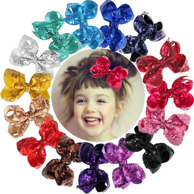 30Pcs 4Inch Sequins Boutique Hair Bows Alligator Clips For Kids Teens - Boutique For Kids