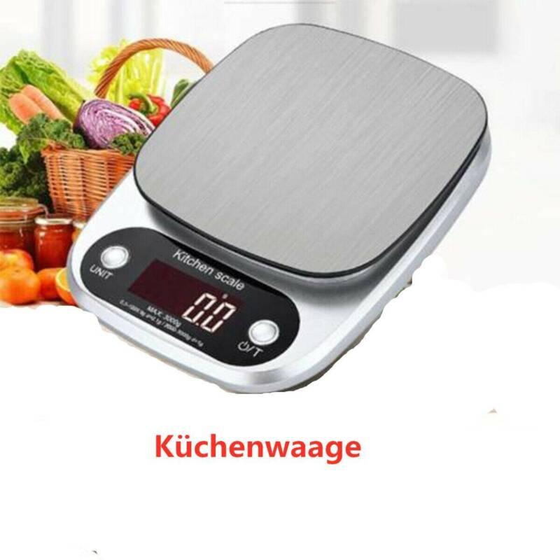 Edelstahl 10kg/1g Digital LCD Küchenwaage Briefwaage Feinwaage Scale Grammwaage