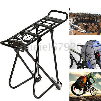 Alloy Cycling Bike MTB Rear Rack Seat Post Mount Pannier Luggage Carrier Bracket