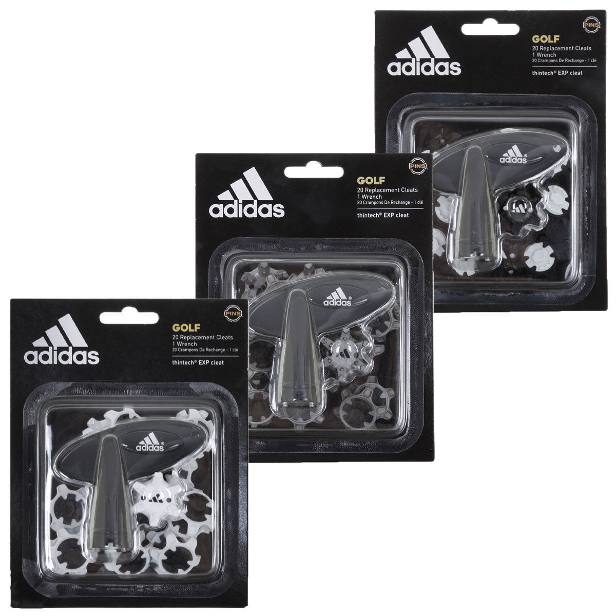 EXP CLEAT 20 PINS PACK GOLF SHOE SPIKES