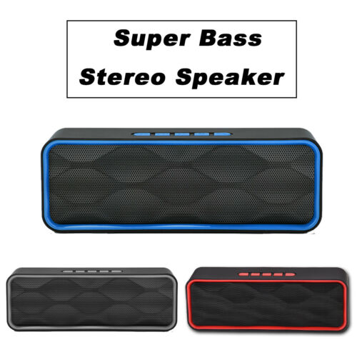 Rechargeable Bluetooth Speaker Wireless Portable Stereo Bass