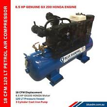 Air Compressor - Piston 18 CFM 120L - Petrol - *Cast Iron* HONDA Kewdale Belmont Area Preview