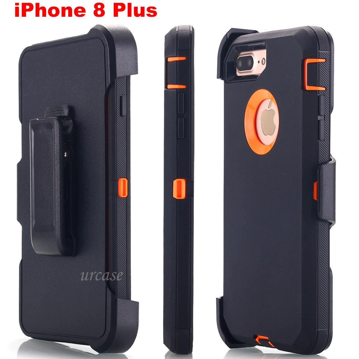 Waterproof iPhone 8 Plus Case Heavy Duty Belt Clip Stand Hol