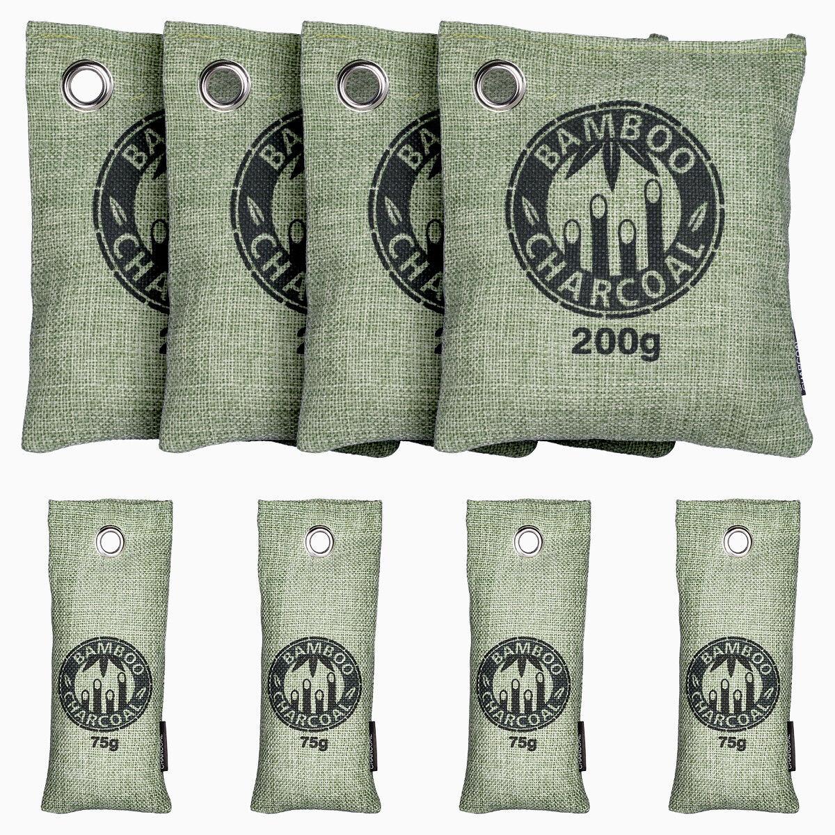 8Pcs Air Purifying Bag Bamboo Charcoal Bag Air Freshener Odor Deodorizer USA