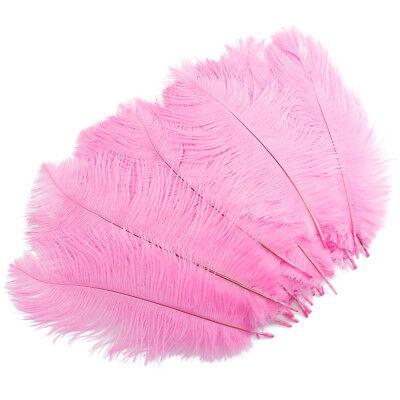 20x Baby Pink Straußenfedern Federn für Hochzeit Party Weihnachten Dekoration
