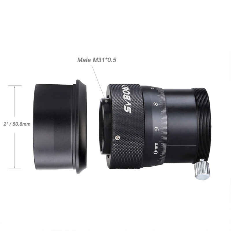 """SV 1.25"""" Telescope Double Helical Focuser 0.1mm Scale Accuracy+M36 to 2"""" Adapter"""
