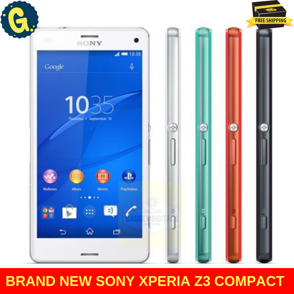 Android Phone - Brand New Sony Xperia Z3 Compact White E5803 16GB Unlocked Android Smart Phone