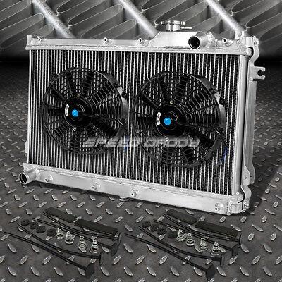 "2-ROW ALUMINUM RADIATOR+2X 12""FAN KIT FOR JDM 90-97 MAZDA MIATA MX5 NA B6ZE"
