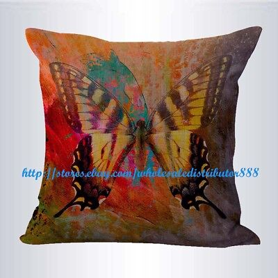 US SELLER- retro butterfly cushion cover pillow living room ()