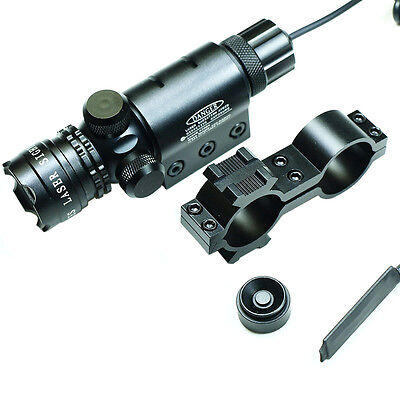 - Powerful Tactical Hunting rifle Green Laser Sight Dot Scope Adjustable - Mounts