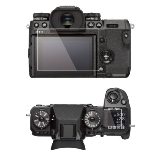 2 Sets LCD Screen Protector-Fujifilm X‑H1 Monitor&Top Control Panel Anti-Smudge
