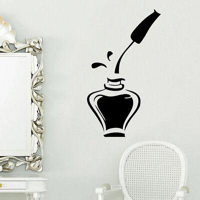Nail Polish Beauty Salon Girls Bedroom Wall Art Stickers Decals Home Room Decor - Salon Decorations
