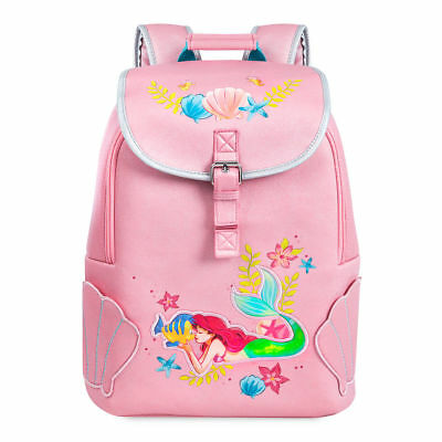 NWT Disney Store Ariel Backpack School Girls Princess The Little Mermaid