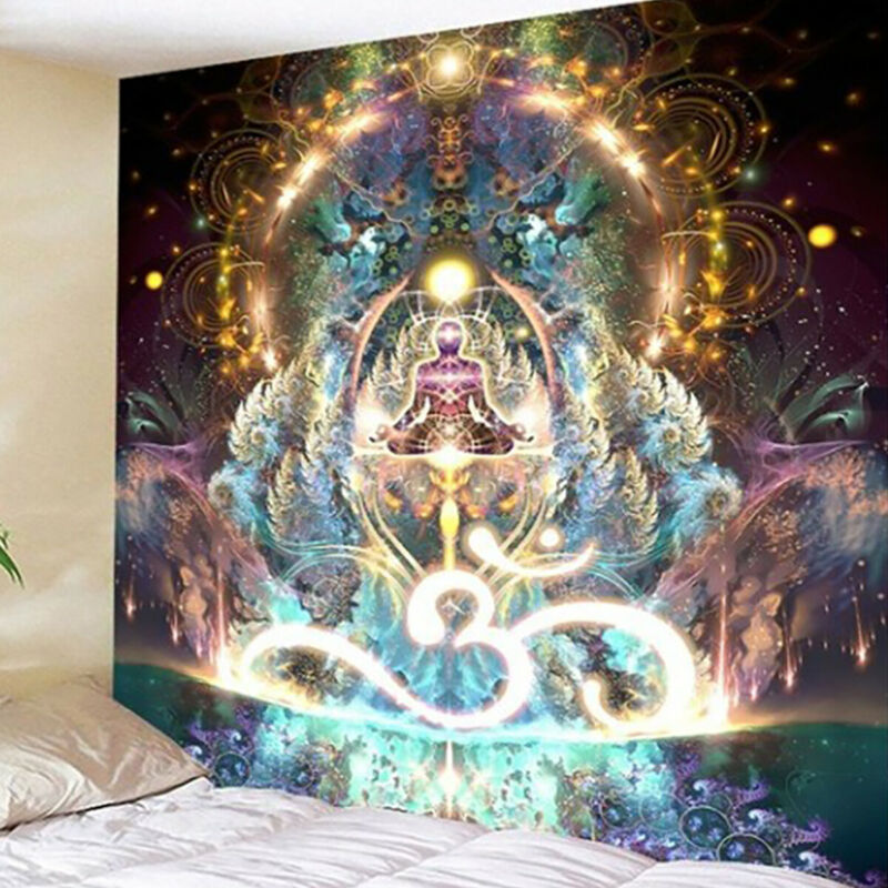 Hippie Trippy Psychedelic Tapestry Wall Hanging Blanket Home