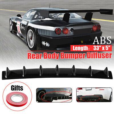 Universal Car Lower Rear Body Bumper Diffuser Shark 7 Fin Kit ABS Spoiler 33