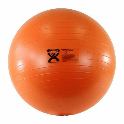 CanDo Deluxe ABS Inflatable Exercise Ball, Orange, 21.6""