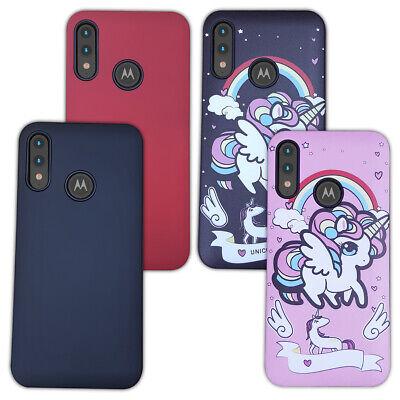 Motorola moto e6 plus case - phone case and screen protector - unicorn design