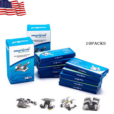 Easyinsmile 10packs Orthodontic Brackets Dental Rothmbt 018022 Metal Braces