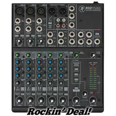 Mackie 802VLZ4 8-Channel Compact Audio Mixer in ORIG BOX w/ FREE SHIPPING!