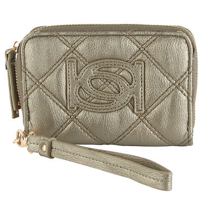 NWT BEBE LILY WRISTLET WALLET 1sz Ultra-chic faux leather impeccable textured
