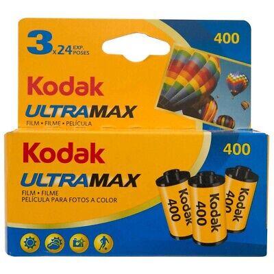 9 x KODAK ULTRAMAX 400 Film (3X3PKS)! Colour Negative Camera Film (35mm, 24 EXP)