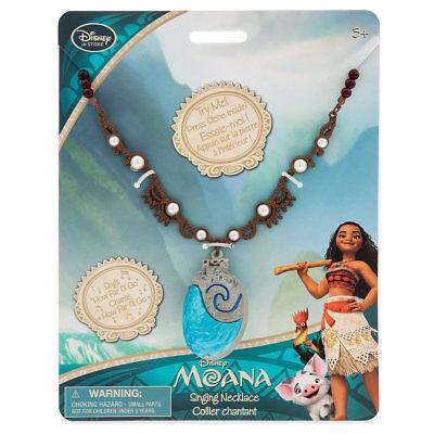 New Disney Store 2017 New Version Princess Moana Singing Shell Necklace Song Htf