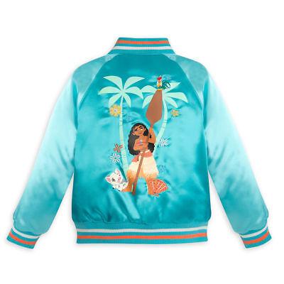 Kid Store Names (NWT Disney Store Moana Varsity Jacket Girl Size 5/6,7/8,9/10 no name on)