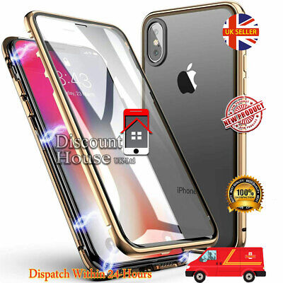 360 Full Body Front+Back Glass Magnetic Case Cover for  iPhone XR XS MAX X 7 8