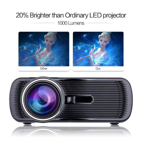 NEW! BL-80 Full HD 1080P LED LCD 3D VGA HDMI TV Home Theater Projector Cinema PC