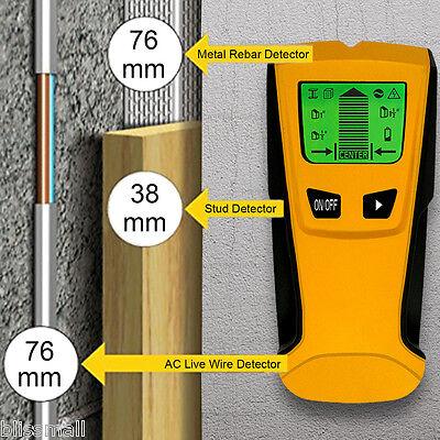 3 in 1 Wood Stud Metal Finder AC Wire Detector Smart Digital LCD Wall Scanner US