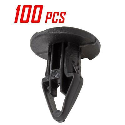 Set of 100 Nylon Push-Type Retainer Bumper Clip Fastener for Chevrolet