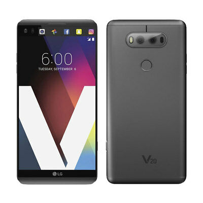 Android Phone - UNLOCKED - LG V20 H918 T-Mobile 64GB Titan Gray Android 4G LTE Dual Camera