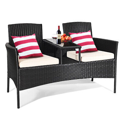 Topbuy Outdoor Rattan Furniture Wicker Patio Conversation Chair