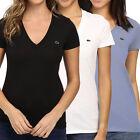 Lacoste V neck Solid Tops & Blouses for Women