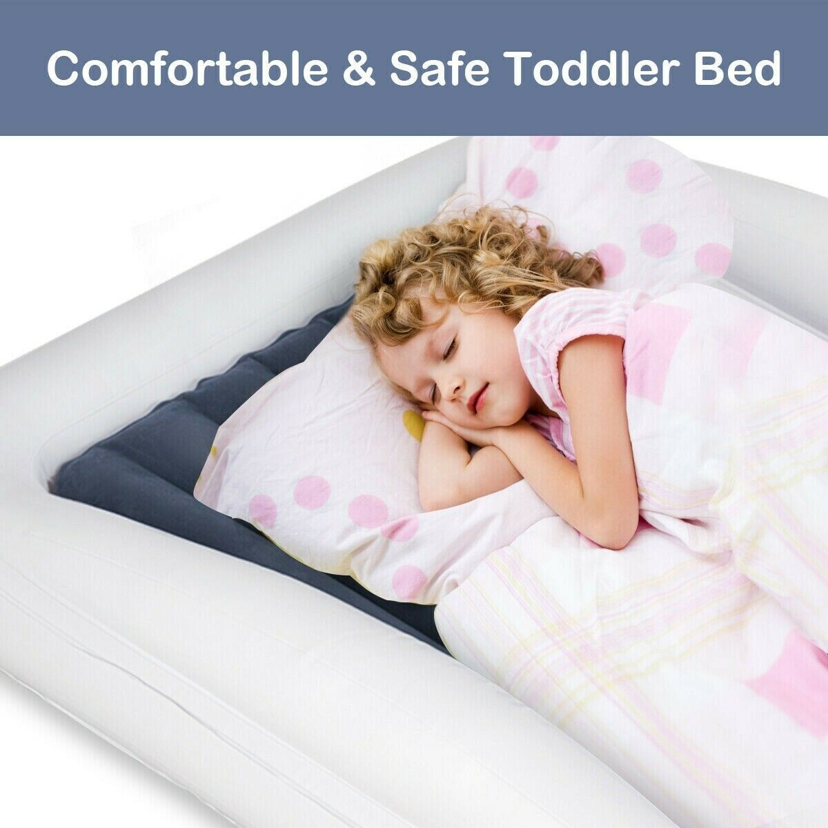 Inflatable Travel with Safety Bumpers Removable Mattress