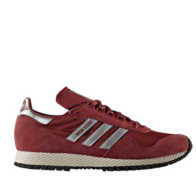 BNIB ADIDAS NEW YORK burgundy wine UK 7.5 BB1189