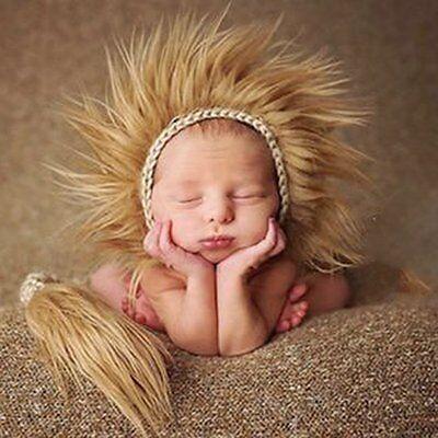 85f6b0172 Newborn Baby Lion Costume   Newborn Baby Lion Crochet Knit Hat ...