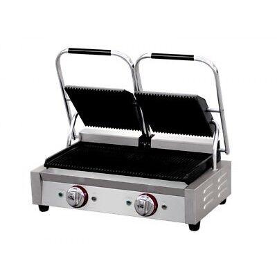 Profi-grill (Profi Doppel-Kontaktgrill, 550 x 285 mm Bratfläche, oben / unten gerillt)