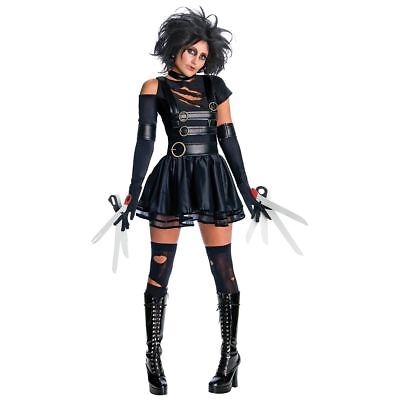 Women Miss Edward Scissorhands Devil Terror Fancy Dress Costume Party Drama