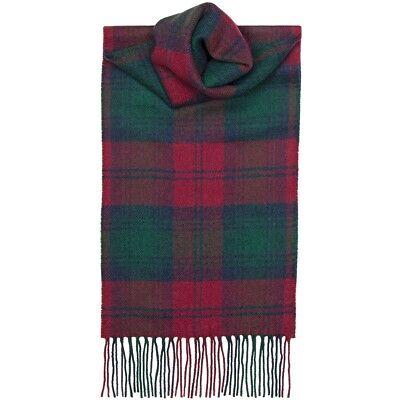 Lochcarron of Scotland 100% Lambswool Lindsay Modern Clan Tartan Scarf New