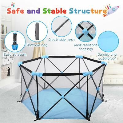 Baby Play Yard - Instant Pop up - Portable Kids Playpen Activity Center 6 Panels
