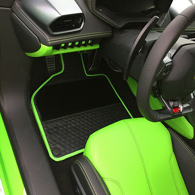 Lamborghini Huracan Custom Floor Mats Carbon Fiber leather Aventador LP610 LP700