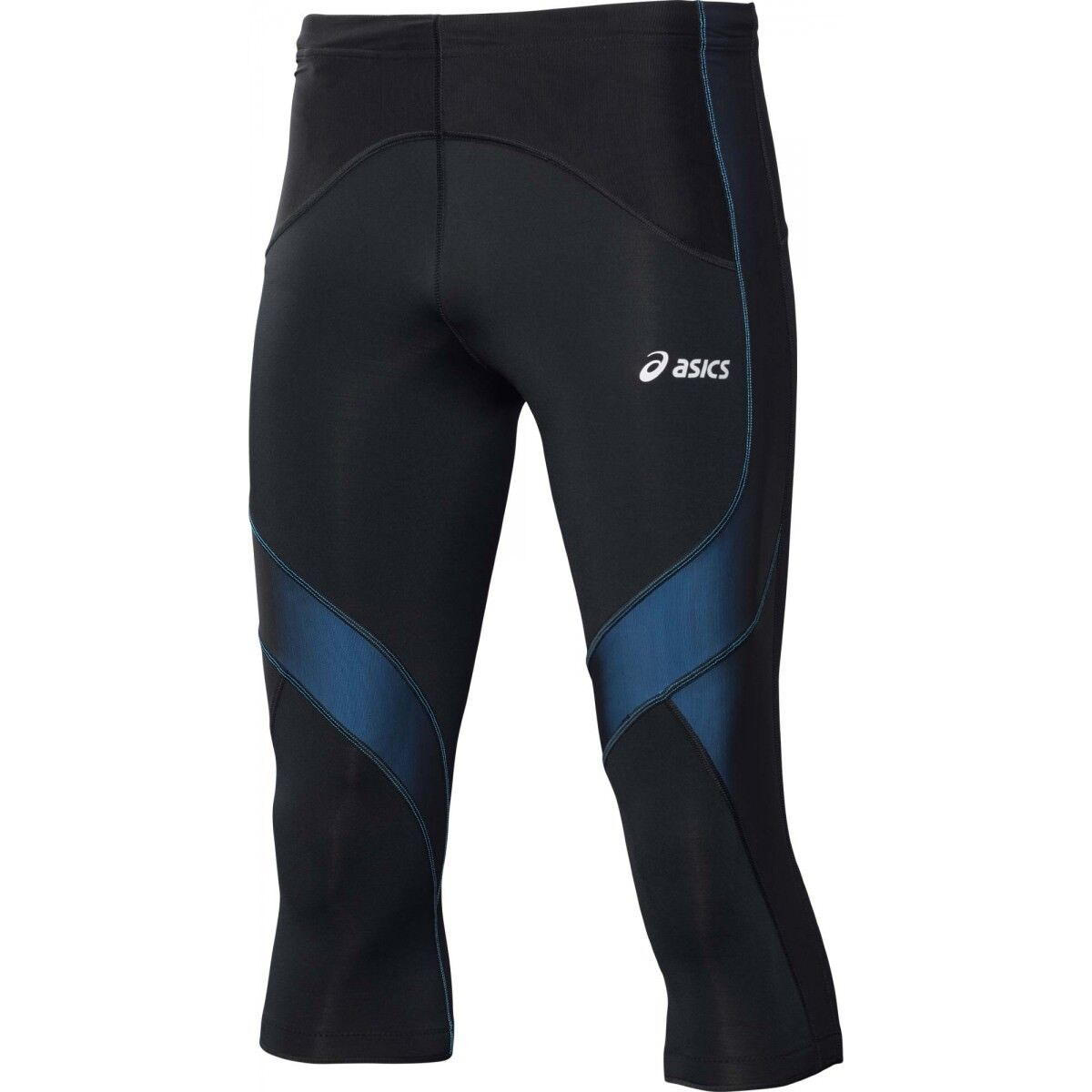Details about Asics Muscle Support Mens Black Blue Compression Training Tights 114507 8070 UW