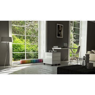 Schreibtisch Z-Line 150 Büromöbel weiß mit Metallrahmen und Sicherheitsglas gebraucht kaufen  Bielefeld
