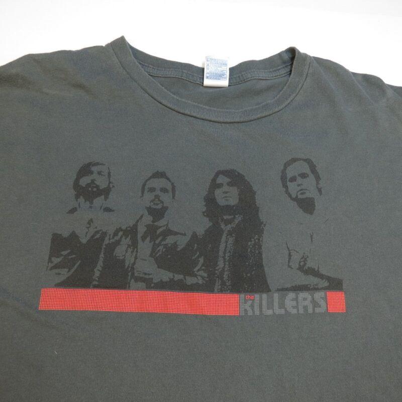 THE KILLERS CONCERT TOUR TEE T SHIRT Sz Mens XL Brandon Flowers Dave Keuning