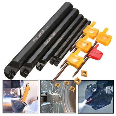 5pcs Set Of 710121620mm Sclcr Lathe Turning Tool Holder Ccmt Insert Blades